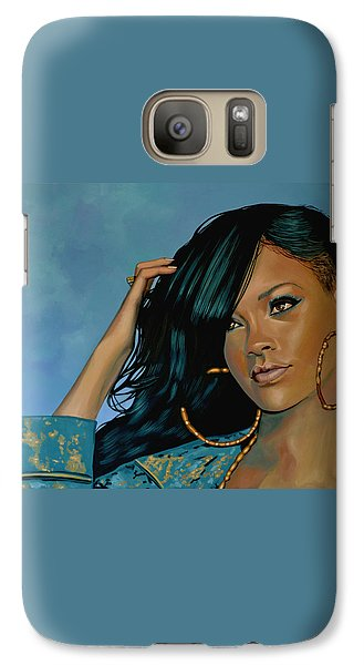 Rihanna Painting Galaxy Case by Paul Meijering