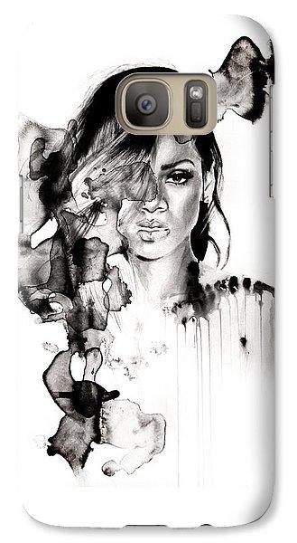 Rihanna Stay Galaxy S7 Case by Molly Picklesimer