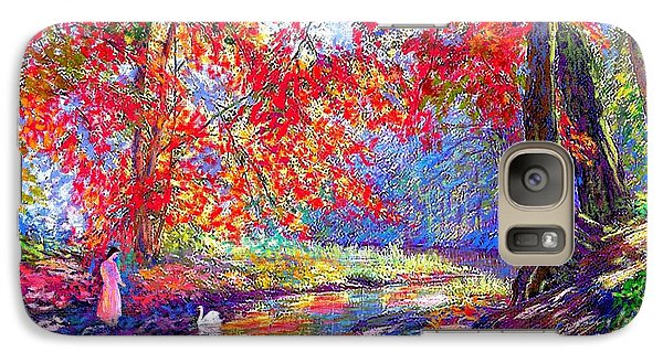 River Of Life, Colors Of Fall Galaxy S7 Case by Jane Small