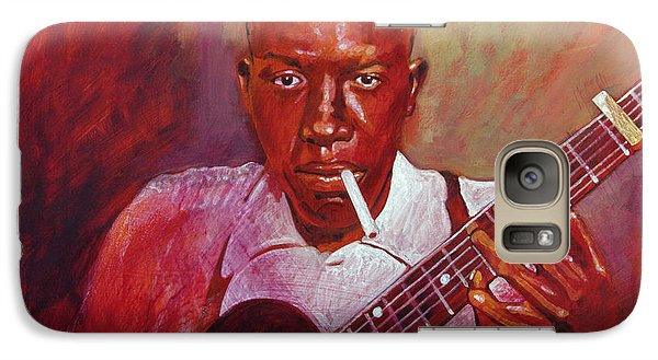 Robert Johnson Photo Booth Portrait Galaxy S7 Case by David Lloyd Glover
