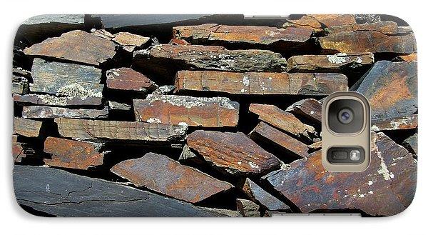 Galaxy Case featuring the photograph Rock Wall Of Slate by Bill Gabbert