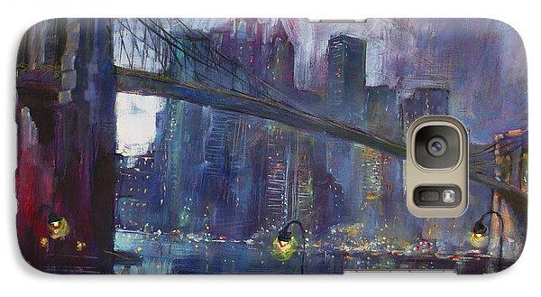 Romance By East River Nyc Galaxy Case by Ylli Haruni