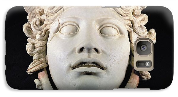 Rondanini Medusa, Copy Of A 5th Century Bc Greek Marble Original, Roman Plaster Galaxy Case by .