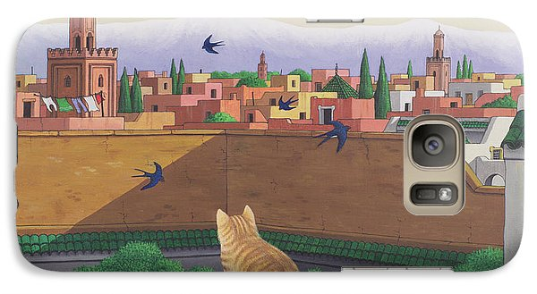 Rooftops In Marrakesh Galaxy S7 Case by Larry Smart