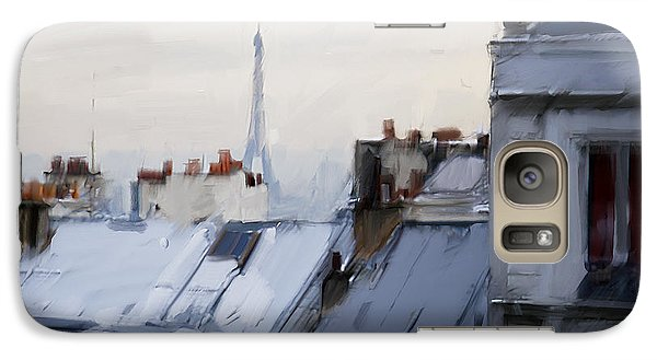 Rooftops Of Paris Galaxy S7 Case by H James Hoff
