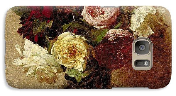 Roses Galaxy Case by Ignace Henri Jean Fantin-Latour