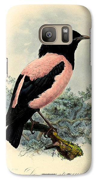 Rosy Starling Galaxy Case by J G Keulemans