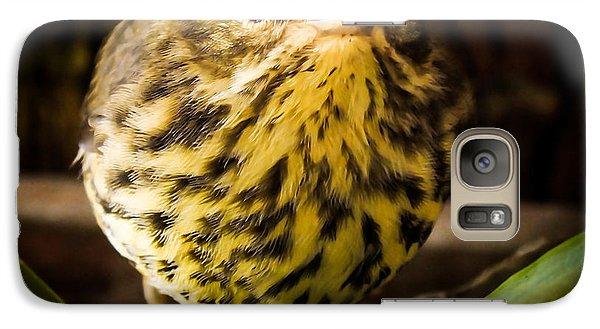 Round Warbler Galaxy S7 Case by Karen Wiles