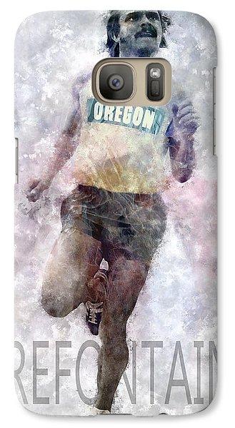 Running Legend Steve Prefontaine Galaxy S7 Case by Daniel Hagerman