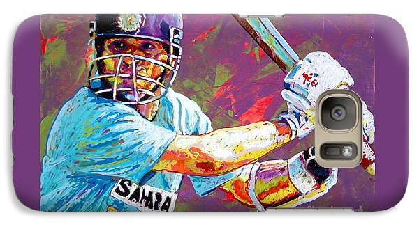 Sachin Tendulkar Galaxy S7 Case by Maria Arango