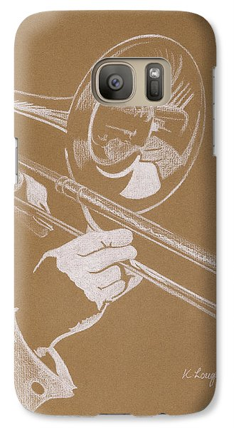 Sacred Trombone Galaxy S7 Case by Karen  Loughridge KLArt
