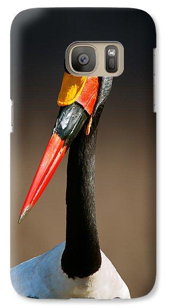 Saddle-billed Stork Portrait Galaxy S7 Case by Johan Swanepoel