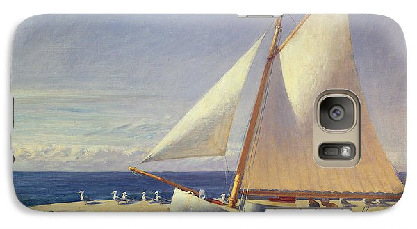 Sailing Boat Galaxy Case by Edward Hopper