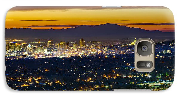 Salt Lake City At Dusk Galaxy Case by James Udall