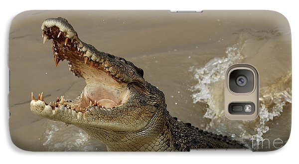 Salt Water Crocodile 2 Galaxy S7 Case by Bob Christopher