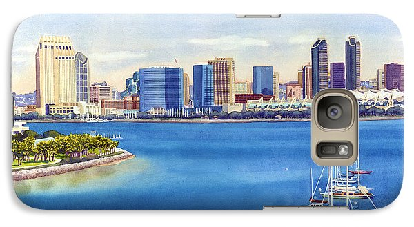 San Diego Skyline With Meridien Galaxy Case by Mary Helmreich