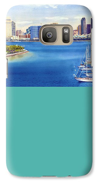 San Diego Skyline With Meridien Galaxy S7 Case by Mary Helmreich