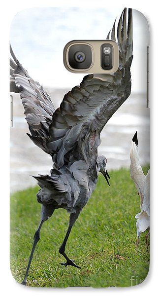 Sandhill Chasing Ibis Galaxy S7 Case by Carol Groenen