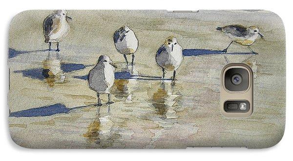 Sandpipers 2 Watercolor 5-13-12 Julianne Felton Galaxy S7 Case by Julianne Felton