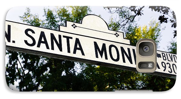 Santa Monica Blvd Street Sign In Beverly Hills Galaxy S7 Case by Paul Velgos