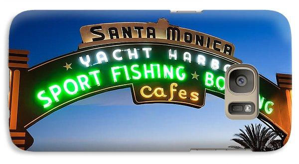 Santa Monica Pier Sign Galaxy S7 Case by Paul Velgos