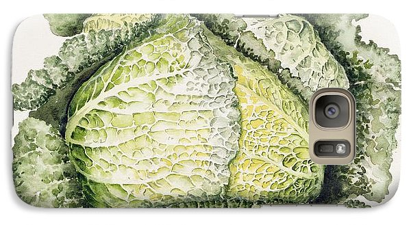 Savoy Cabbage  Galaxy Case by Alison Cooper