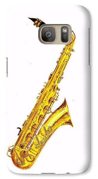 Saxophone Galaxy S7 Case by Michael Vigliotti