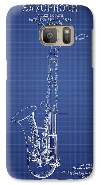 Saxophone Patent From 1937 - Blueprint Galaxy S7 Case by Aged Pixel