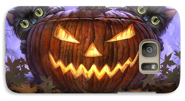 Scaredy Cats Galaxy Case by Jeff Haynie