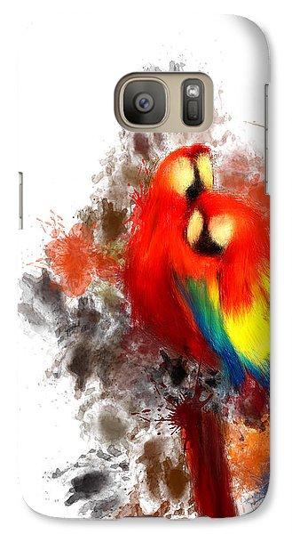 Scarlet Macaw Galaxy Case by Lourry Legarde