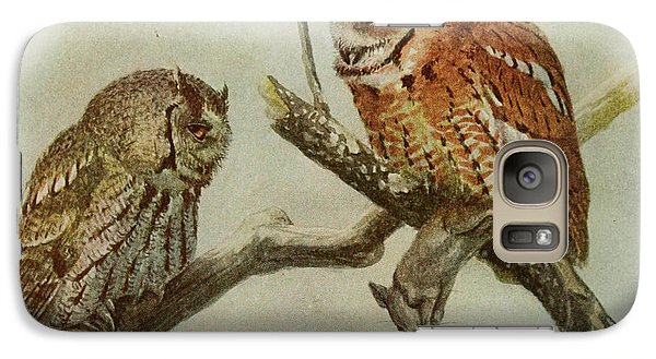 Screech Owls Galaxy S7 Case by Louis Agassiz Fuertes