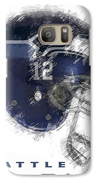 Seahawks 12 Galaxy Case by Daniel Hagerman