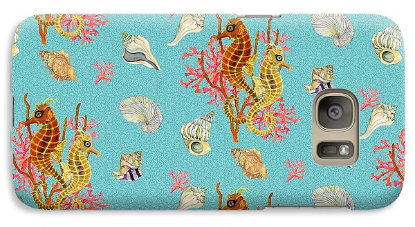 Seahorses Coral And Shells Galaxy S7 Case by Kimberly McSparran