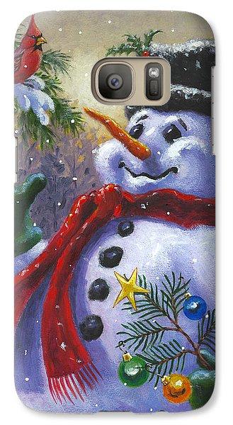 Seasons Greetings Galaxy Case by Richard De Wolfe