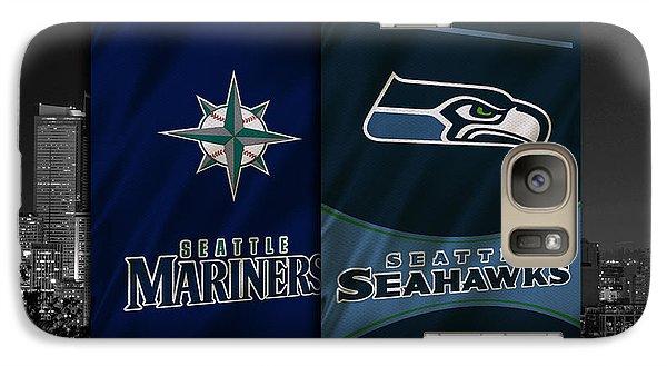 Seattle Sports Teams Galaxy S7 Case by Joe Hamilton