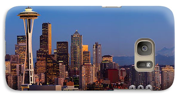 Seattle Winter Evening Panorama Galaxy S7 Case by Inge Johnsson