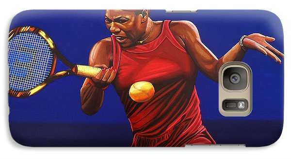 Serena Williams Painting Galaxy S7 Case by Paul Meijering