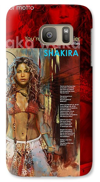 Shakira Art Poster Galaxy S7 Case by Corporate Art Task Force