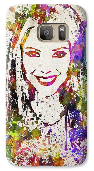 Shakira In Color Galaxy S7 Case by Aged Pixel