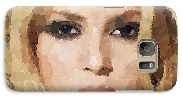 Shakira Portrait Galaxy Case by Samuel Majcen