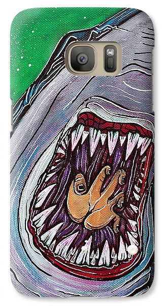 Shark Kill Zone Galaxy Case by Laura Barbosa