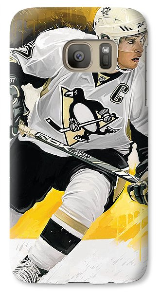 Sidney Crosby Artwork Galaxy S7 Case by Sheraz A