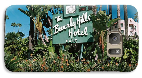 Signboard Of A Hotel, Beverly Hills Galaxy S7 Case by Panoramic Images