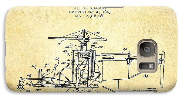 Sikorsky Helicopter Patent Drawing From 1943-vintage Galaxy S7 Case by Aged Pixel