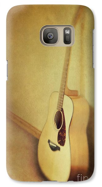 Silent Guitar Galaxy S7 Case by Priska Wettstein