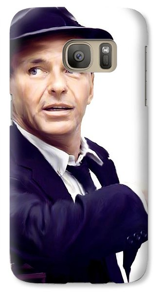 Sinatra.  Frank Sinatra Galaxy S7 Case by Iconic Images Art Gallery David Pucciarelli