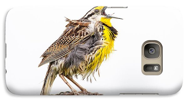 Singing Meadowlark 3rd Of 3 Galaxy Case by Bill Swindaman
