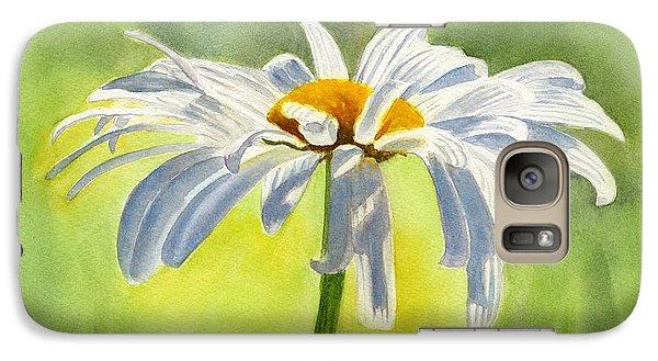 Single White Daisy Blossom Galaxy S7 Case by Sharon Freeman