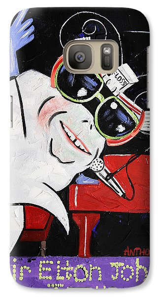 Sir Elton John Tooth  Galaxy Case by Anthony Falbo