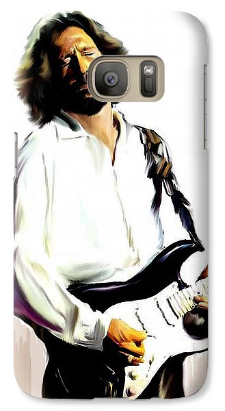 Slow Hand  Eric Clapton Galaxy S7 Case by Iconic Images Art Gallery David Pucciarelli